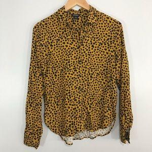 ASOS Monki Animal Print Button Down Shirt